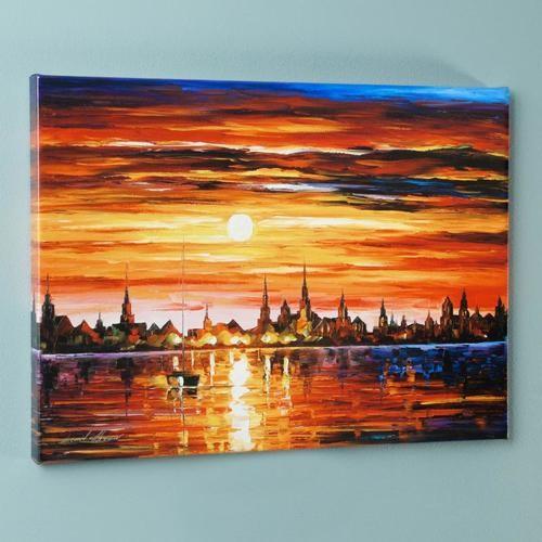 """Afremov """"Sunset In Barcelona"""""""