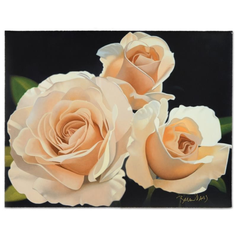 """Davis -""""Three French Lace Roses"""""""
