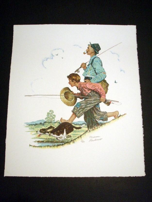 Rockwell Grandpa & Me Fishing
