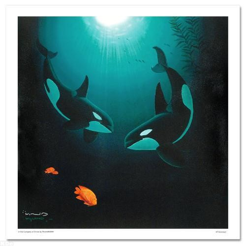 Wyland In The Company Of Orcas