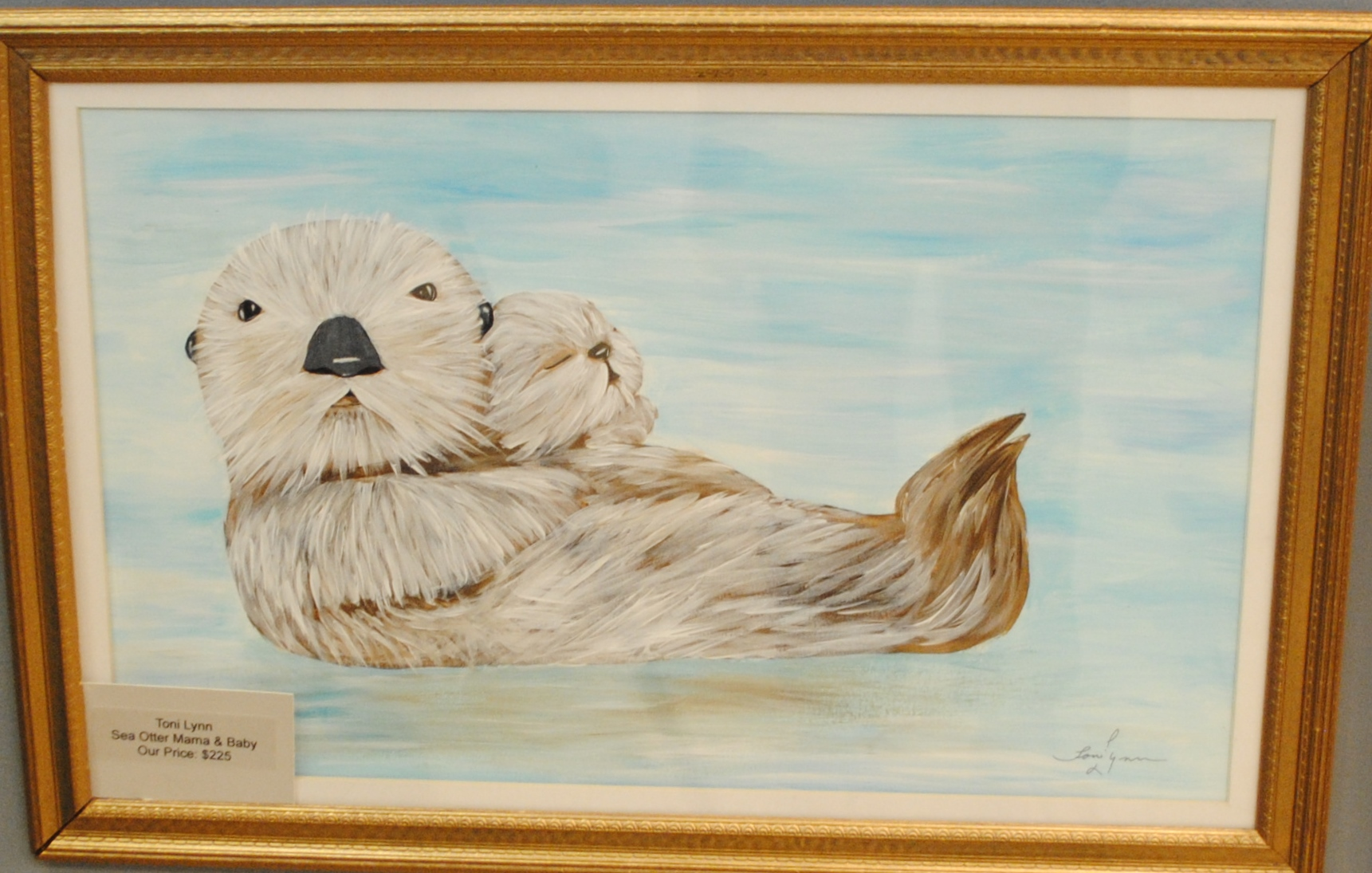 Toni Lynn Sea Otter Mama And Baby