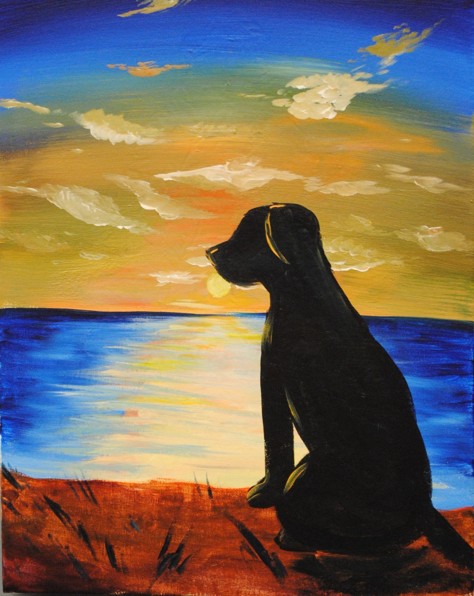 Sunset Dog