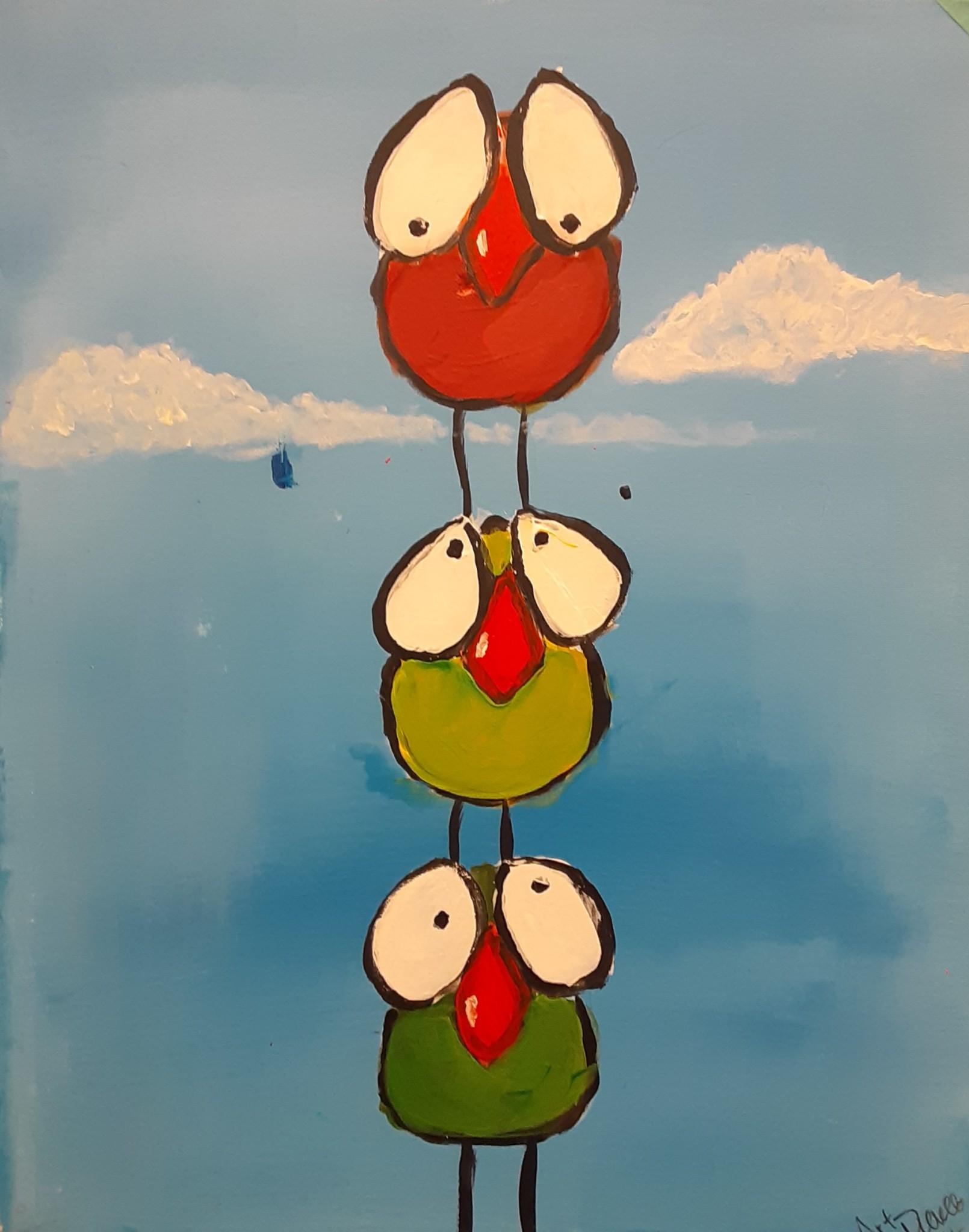 Three Little Birds…..