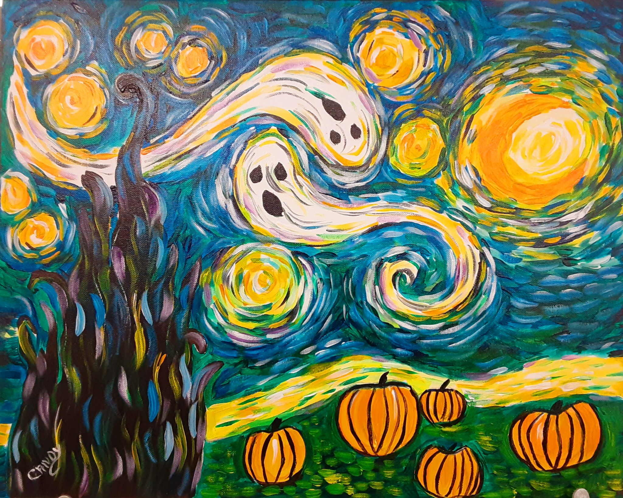 Painting With Candy Van Gogh Halloween